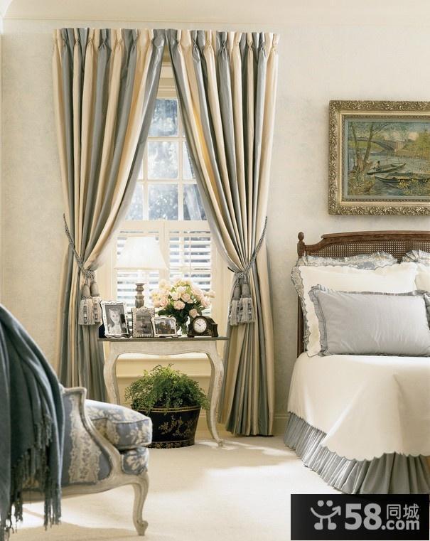 窗帘装修效果图 欧式卧室窗帘装修