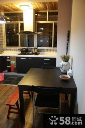 简单阳台改厨房装修效果图