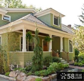 美式经典别墅外墙瓷砖装修设计