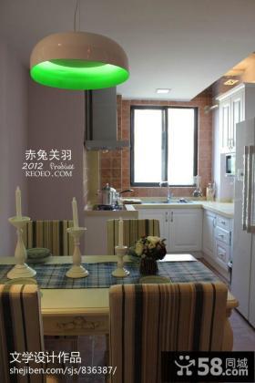 小户型厨房餐厅一体设计效果图片