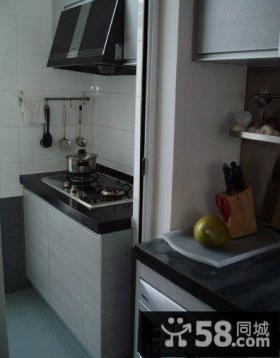 简约风格家庭阳台改厨房装修效果图