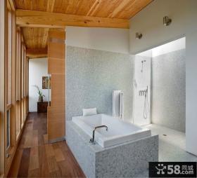 农村别墅图片大全 卫生间瓷砖效果图