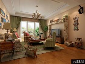 美式风格客厅电视墙装修效果图