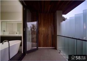 现代复式装修封闭阳台卫生间图片欣赏大全