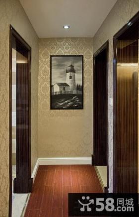 过道背景墙装饰画效果图片