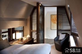 美式风格复式家装卧室设计效果图