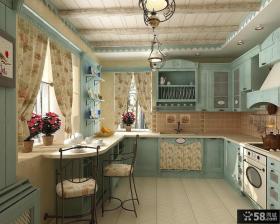 复古地中海风格厨房装修图片大全