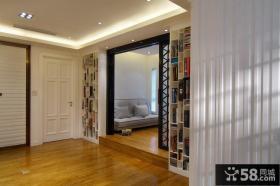 现代别墅室内隔断家装效果图