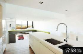 时尚简约风格复式家居厨房效果图