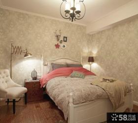 欧式卧室壁纸装修效果图2013