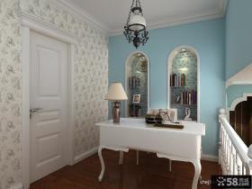 小复式楼地中海风格书房装修效果图大全2012图片