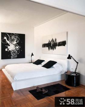 简约复式楼卧室装修设计效果图