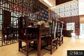 中式自建别墅餐厅装修效果图欣赏