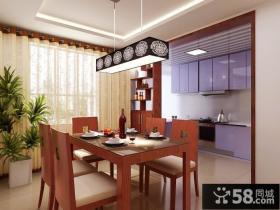 中式风格餐厅装修效果图大全2013图片欣赏