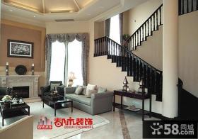 现代欧式风格别墅客厅装修效果图片