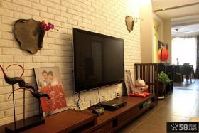 新中式客厅电视背景墙装修效果图大全