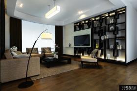 小三居现代时尚的客厅电视背景墙装修效果图