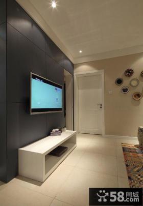 时尚美式家居客厅电视背景墙装修