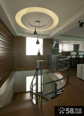 别墅楼梯间家装吊顶设计效果图