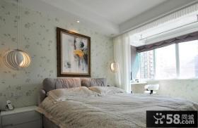 简约卧室壁纸设计效果图欣赏