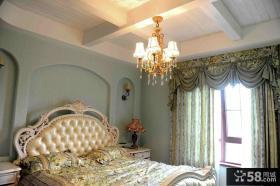 欧式乡村风格卧室装修效果图片