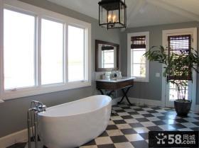简约元素的美式风格装修卫生间图片