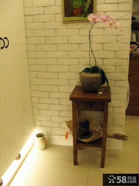 中式风格家居进门玄关装饰效果图