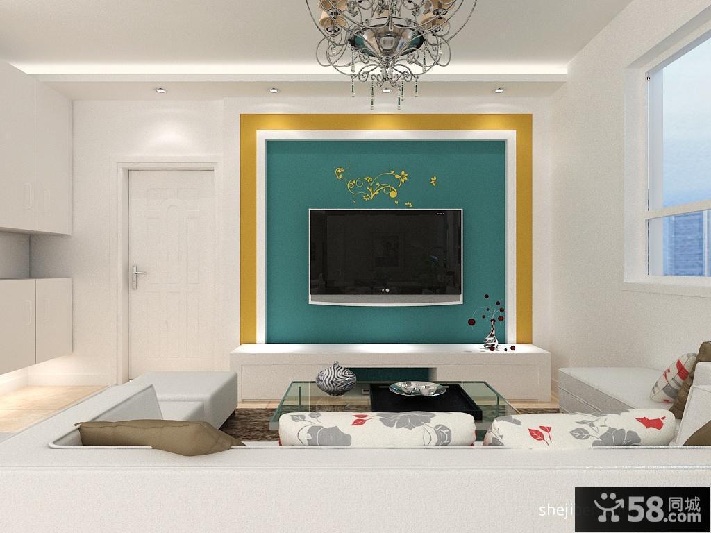 电视背景墙装修效果图大全2013图片小户型