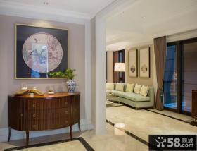 欧式家居玄关桌装饰画效果图