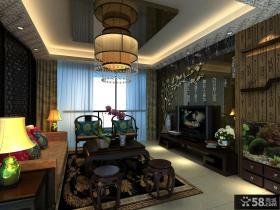 中式客厅吊顶装修效果图大全2013图欣赏