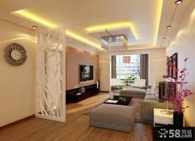 现代客厅吊顶效果图 现代风格液晶电视背景墙