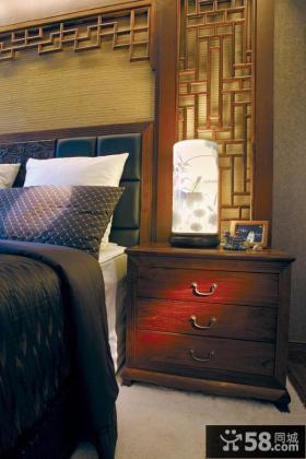 中式风格卧室床头灯具图片