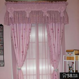 好看的粉色卧室窗帘图片大全