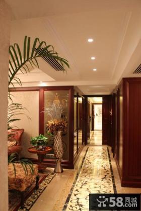 欧式古典装修家庭走廊装修效果图