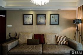 时尚客厅沙发墙装饰画图片
