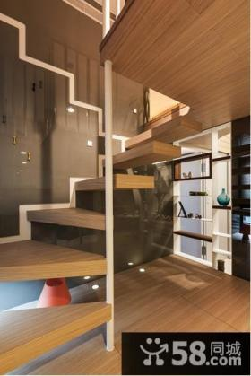 现代乐活家居实木楼梯设计