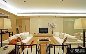 时尚简中式客厅设计