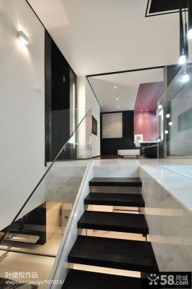 复式楼楼梯装修设计效果图欣赏