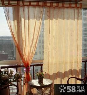 阳台半遮光窗帘效果图