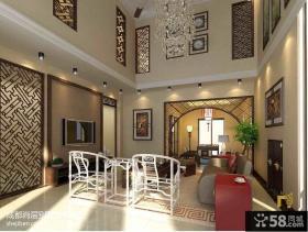 中式风格别墅客厅效果图