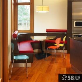 圆弧形餐厅吧台设计效果图