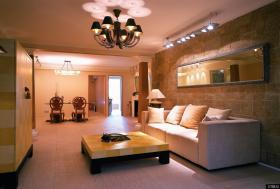 现代简约风格小客厅吊顶装修图片