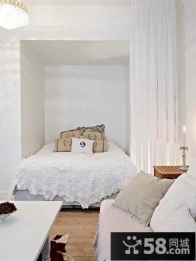 90平米小户型北欧风格卧室装修效果图大全2012图片
