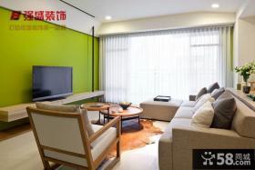 简约小户型客厅装修实景图