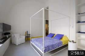 将复古与现代糅合的别墅现代简约卧室装修效果图大全2014图片