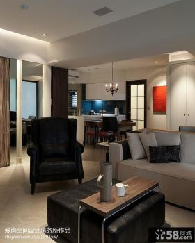 现代风格客厅沙发茶几效果图欣赏