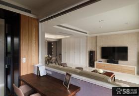 简约室内电视背景墙设计效果图片欣赏