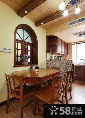 厨房与餐厅隔断设计效果图