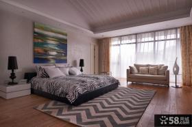 后现代风格设计别墅卧室装修图片