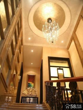 别墅楼梯间吊顶装修效果图欣赏